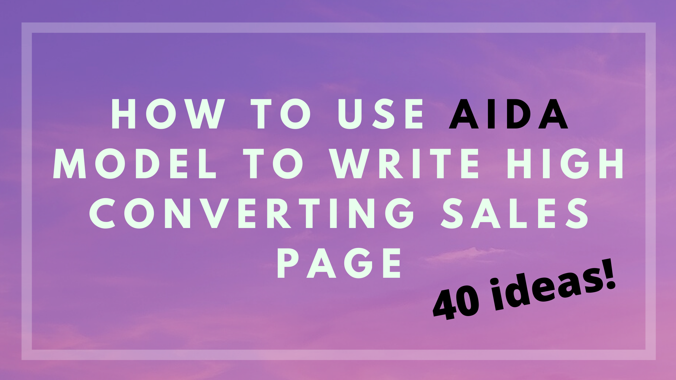 How to write sales page
